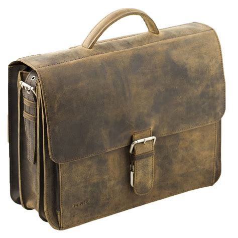 Business laptoptas donkerbruin vintage   Plevier