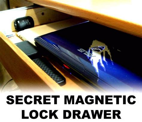 secret magnetic lock drawer