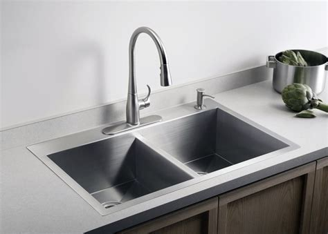 sink on top of counter dual mount sink opens up options for kitchen counter the