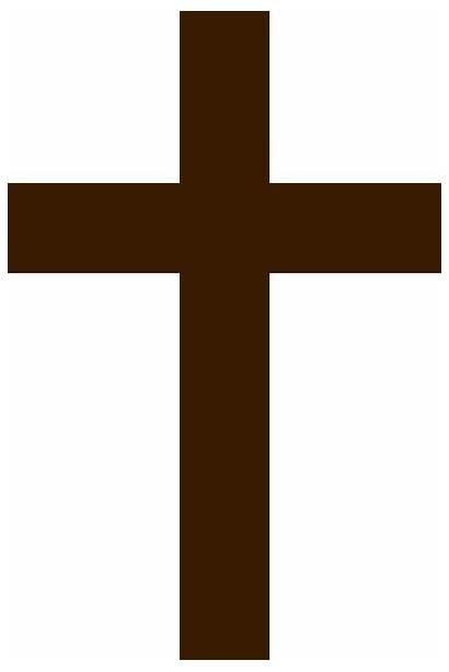 Cross Brown Simple Clip Clipart Wooden Vector