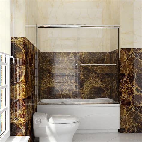 frameless shower doors tub new semi frameless sliding bathtub shower door 60 quot glass 5