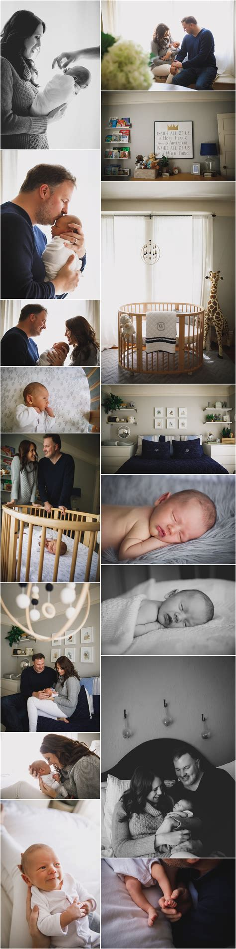 Baby Williams In Home Newborn Photography Session In San