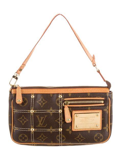 louis vuitton monogram pochette riveting bag handbags lou  realreal