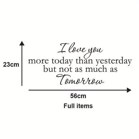 simple fashion english poem  love  wall stickers room