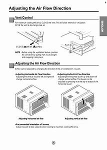 Adjusting The Air Flow Direction  Vent Control  English