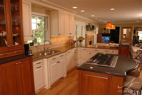 open elegant kitchen neals design remodel