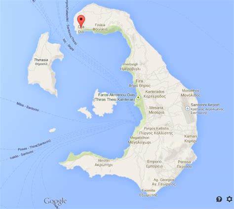 oia  map  santorini