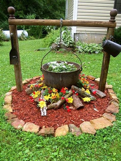 Campfire Flower Pot  Let's Go Outside Pinterest