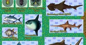 Animal Crossing New Leaf Fish And Bugs Guide Animal