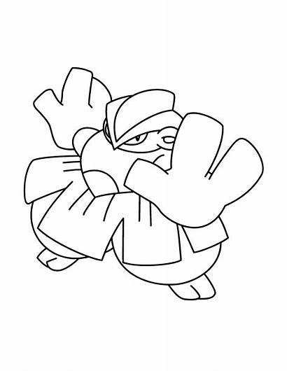 Pokemon Coloring Ausmalbilder Advanced Colorear Dibujos Hariyama