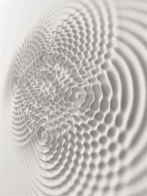 rippled relief sculptures  artist loris cecchini