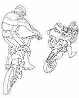 Motor Coloring Pages Racing Motorcycle Engine Template Motorbikes sketch template