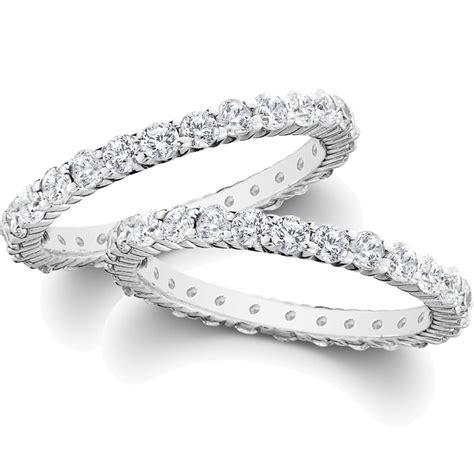2ct Diamond Eternity Stackable Wedding Rings Set 14k White. Beautiful Jewellery. Anklet Length. Longitude Latitude Bracelet. Rectangular Engagement Rings