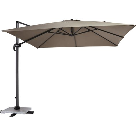 parasol excentr 233 proloisirs taupe 9 m 178 leroy merlin