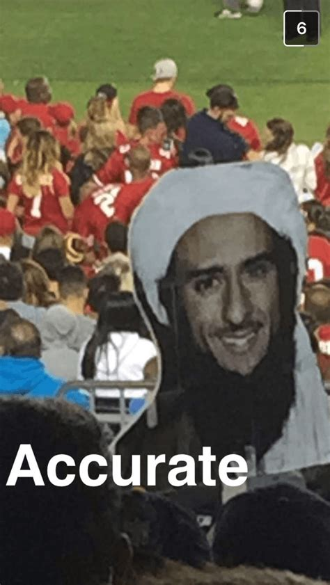 fans bring giant colin kaepernick isis head cutouts