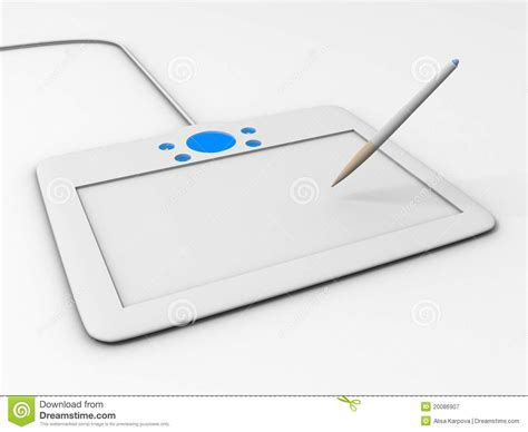 computer drawing tablet   royalty  stock