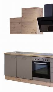 Küche 220 Cm : k chenzeile riva k che mit e ger ten und design dunstabzug breite 220 cm bronze metallic ~ Eleganceandgraceweddings.com Haus und Dekorationen