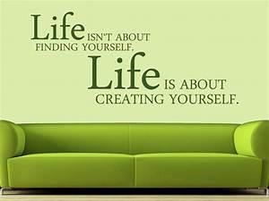Wandtattoo Creating yourself Spruch englisch von wandtattoo net
