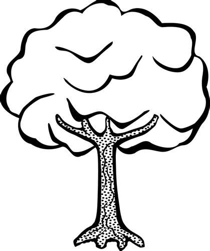 gambar pohon hitam putih clipart