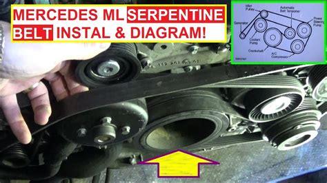 Mercede 98 C280 Serpentine Belt Diagram by Serpentine Belt Replacement Install And Belt Diagram
