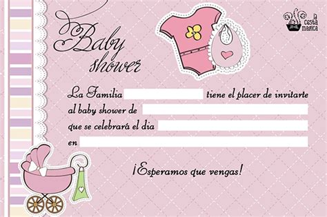 Invitaciones de Baby Shower Gratis 【Para imprimir y