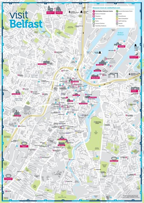 belfast sightseeing map