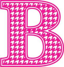 Pink Letter B