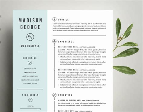 photoshop resume template free resume template for word