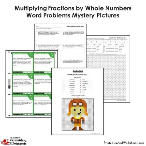 4th grade multiplying fractions word problems coloring