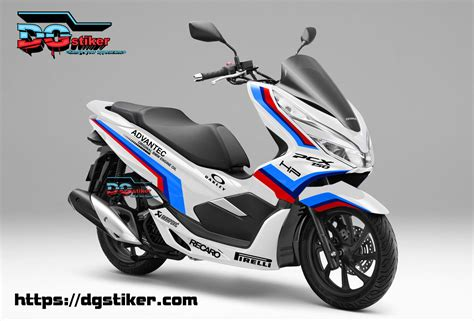 Pcx 2018 Warna Merah by Decal Sticker Honda Pcx New 2018 Lokal Warna Putih Livery