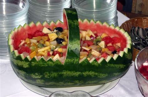 honigmelone schneiden anleitung watermelon basket wassermelonen korb usa kulinarisch