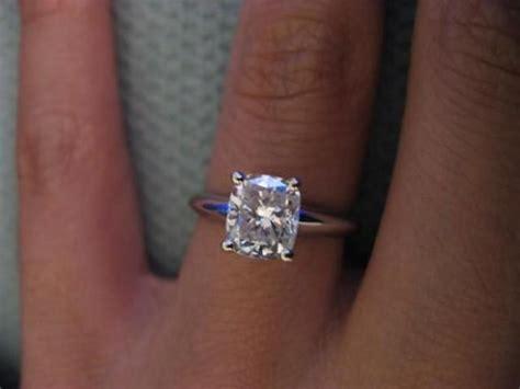 cushion cut engagement ring post you photos weddingbee
