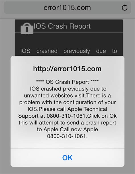 warning on iphone ios crash warnings scam targeted iphone and