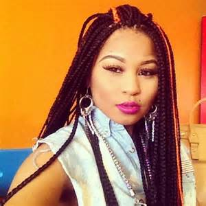 Long Box Braids with Color