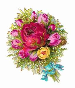 Antique Images: Digital Scrapbooking Flower Bouquet with ...