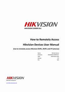 How To Remote Access Hikvision Devices