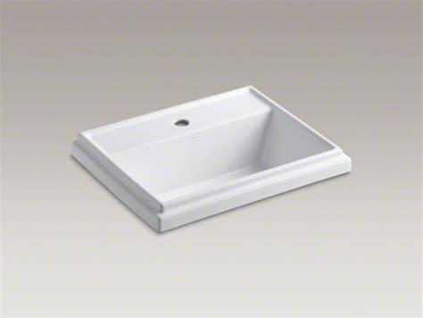 kohler tresham vanity sink kohler tresham r rectangular drop in bathroom sink with