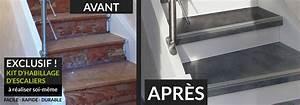 habillage escalier en kit With peindre des escalier en bois 3 metamorphoser un escalier poser des contremarches