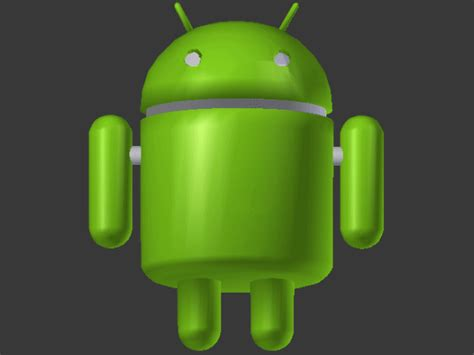 android model android robot phone cyber character blend blender