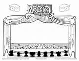 Coloring Theatre Stage Pages Cutouts Drama Sketch Template Theater Dragged Mousical Hamilton Curtain Curtains Sketches Class Andrews Julie Walton Colorful sketch template