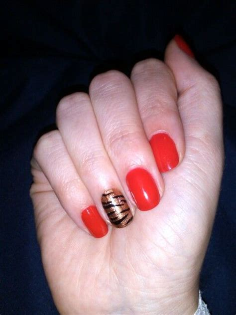 Candy apple red with tiger | Nails | Pinterest | Candy Candy apple red and Tigers