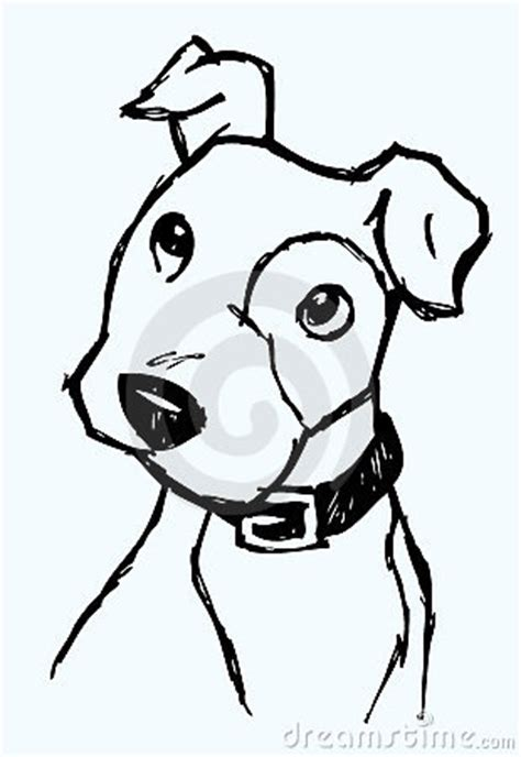 curious dog sketch royalty  stock photo image
