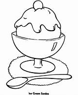 Cream Ice Cartoon Sundae Clipart Clip Library Pre Sundaes sketch template