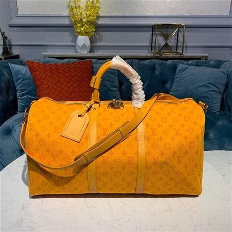 louis vuitton keepall bandouliere  ocre monogram denim aaa handbag