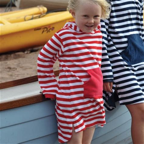 mitty james childrens girls boys towelling long hooded