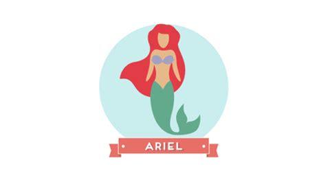 Ariel. Minimal Pixar And Disney Characters