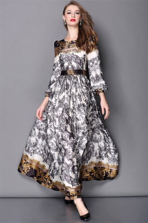 high quality designer runway fashion maxi dress womens