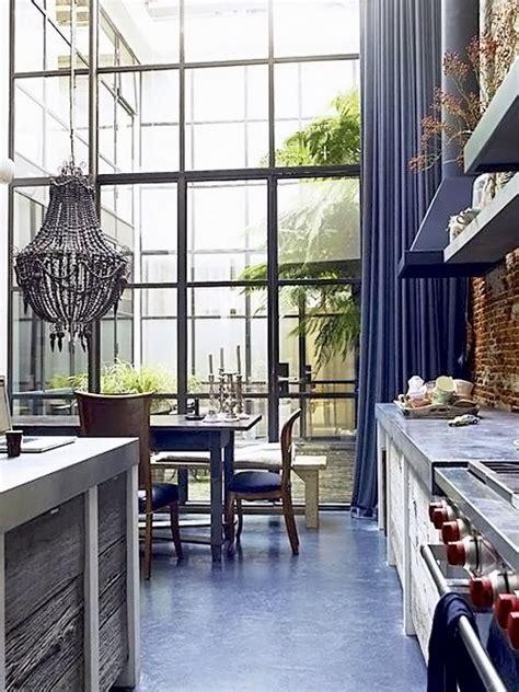 Purple Curtains   Eclectic   kitchen