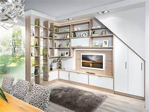 Wohnzimmer Mit Schräge : wohnwand f r dachschr ge bestseller shop f r m bel und einrichtungen ~ Orissabook.com Haus und Dekorationen