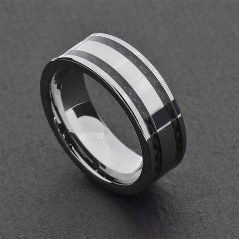 black and silver wedding ring 15 ideas of black and silver mens wedding rings